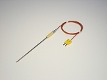Thermocouple 1/8 in. diameter Inconel probe 3 ft cable w/ male mini connector
